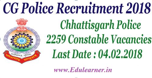 CG Police Constable Vacancy 2019 Online Form Chhattisgarh Police Recruitment Notification