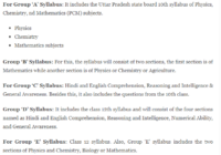 UP Polytechnic Syllabus 2020 Pdf download in Hindi JEECUP Syllabus Group A to K