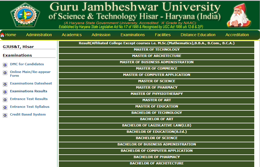 GJU Hisar B.Ed 1st, 2nd Year Result 2020 यहाँ देखे gjust.ac.in B.Ed Result Name Wise