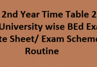 B.Ed 2nd Year Time Table 2020 घोषित All University B.Ed Date Sheet/ Exam Scheme/ Routine