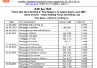 IGU B.Ed Date Sheet 2020 {1st & 2nd Year} Exam Time Table