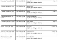 MGSU Time Table 2020 Non College BA B.Sc B.Com Part I, II,III Date Sheet