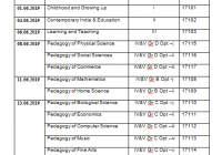 MDU B.Ed Date Sheet 2020 BEd 1st/ 2nd Year Reappear Time Table